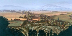 Stephen Hannock Napa Vineyard at Dawn: Leaving the Fogm 2001