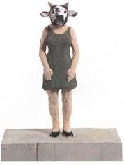 Stephen Balkenhol Woman with Cowhead, 1996