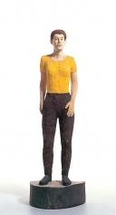 Stephan Balkenhol Large Woman with Yellow Shirt