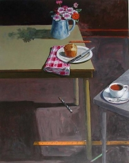 Paul Wonner Studio: Two Tables Popover and Coffee, 2000