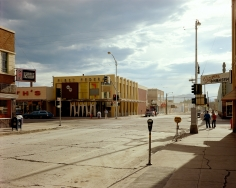 Stephen Shore, Second Street, East and South Main Street, Kalispell, Montana, August 22, 1974