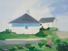 Maureen Gallace, Stone wall / Roses, 2007