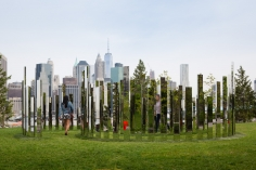 Jeppe Hein, Mirror Labyrinth NY, 2015, Installation view: Please Touch The Art, Brooklyn Bridge Park, 2015-16