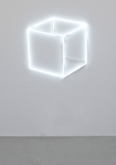 Jeppe Hein, Neon Cube Perspective (Neon Cube 2D), 2013