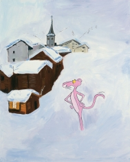 Karen Kilimnik, Pink Panther Going For His Morning Walk in Gstaad, 2001