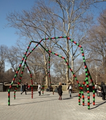 Eva Rothschild, Empire, 2011, Installation view: Doris Freedman Park, 2011