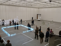 Jeppe Hein, Please cross the line, 2010, Installation view: 1 X MUSEUM, 10 X ROOMS, 1 X WORKS, Neues Museum Nürnberg