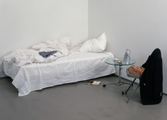 Hans-Peter Feldmann, Bed with Photograph, Installation view: 303 Gallery, New York, 2000