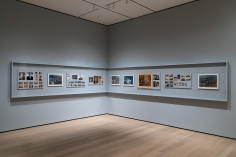 Installation view of Stephen Shore. The Museum of Modern Art, NY, November 19, 2017 – May 28, 2018.