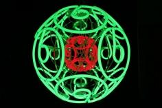 Jeppe Hein, Double neon green, 2006