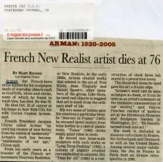 Arman Obituary
