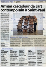 Arman cascadeur de l'art contemporain à Saint-Paul