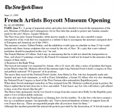 French Artists Boycott Museum Opening