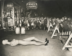 Weegee Crowd with Mannequin, ca. 1940