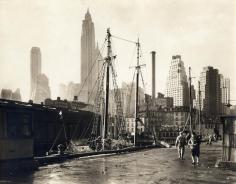 Berenice Abbott Fulton Street Dock, circa 1936