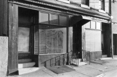 Will brown vintage photograph Twin Storefronts 1974