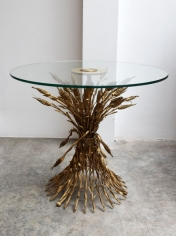 Gilt Sheaf of Wheat Cocktail table / Arturo Pani