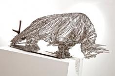 My Modern Met | Endangered Rhino Sculpture Made of Stainless Steel Wire