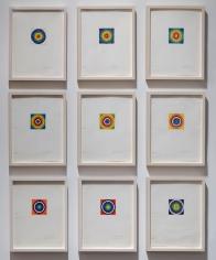 Installation image of 9 mandalas