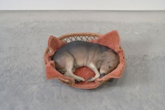 DUANE HANSON Beagle in Basket, 1979