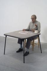 DUANE HANSON Old Man Playing Solitaire, 1973