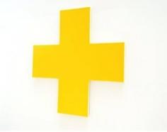 OLIVIER MOSSET Untitled (Yellow Cross), 2010