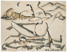 David Smith, ΔΣ 10/22/54, 1954.Ink and tempera on paper, 19 3/4 x 25 3/4 inches.