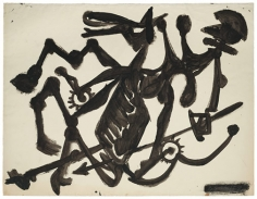 David Smith, ΔΣ 5/14/52, 1952.Black egg ink on paper, 20 x 26 inches.