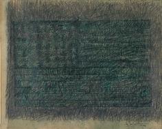 Jasper Johns,Green Flag, 1956.