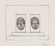 Jasper Johns, Ale Cans III, 1974.