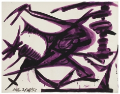 David Smith, ΔΣ 2/28/52, 1952.Egg ink and tempera on paper, 18 1/8 x 23 inches.