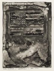 Jasper Johns, Flag on Orange Field, 1977.