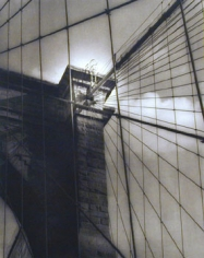 Brooklyn Bridge, 1999, 11.5 x 15 dust grained photogravure, edition 5/50