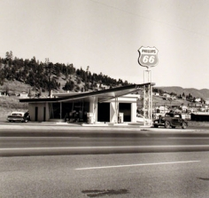 from Gas Stations portfolio (10 prints), 1962, Gelatin Silver Print, Printed 1989, 3/25, available as 10 print portfolio. Please call for price.