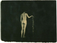 Untitled #244 from the series A Box of Ku, 4 x 5 inch gelatin silver print with mixed media