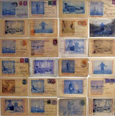 Postkarten von Eisbergfreistadt	 (Postcards from Eisbergfreistadt), 2008 26 x 26 inches, Vintage 1920's German postcards with archival inkjet printing, Signed, titled, dated and numbered on verso with artist label, Edition of 3 (each unique)