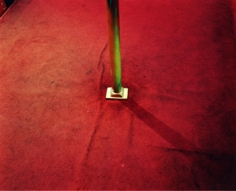 Base of Stripper Pole, Peep Show, CA, 2005, Chromogenic Print, available in 20 x 24, 30 x 40, and 40 x 50 inches, editions of 5.