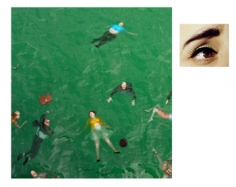 Alex Prager, 3:14pm and Eye # 9 (Passenger Casualties), Pacific Ocean, from the series Compulsion, 2012