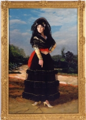 Yasumasa Morimura, Dedicated to La Duquesa de Alba/Black Alba, 2004, 71 x 41.25 inch Chromogenic print, Edition 4/5