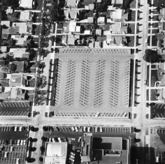 Parking Lots (5000 W. Carling Way) #5, 1967-99, 15 x 15 inch Gelatin Silver Print, Initialed and editioned on verso, Edition 23/3