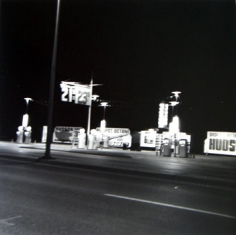 Ed Ruscha, Conoco, Shamrock, Texas, from Five Views from the Panhandle, 1962/2007, Suite of 5 7.5 x 7.5 inch Gelatin silver prints, Signed and editioned on the colophon page in linen clamshell case with silver embossing