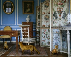Karen Knorr, The Blue Salon #3, 2004, 30 x 40 inch Lambda Fuji Archival Print, Signed  on verso, Edition of 5