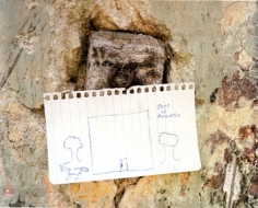 Edwardo del Valle & Mirta Gomez, Child's Drawing, Holactun, Yucatan, Mexico, 2000, 20 x 24 inch Chromogenic Print, Signed, dated, titled and editioned on verso, Edition of 20