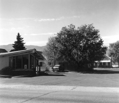 Robert Adams, Motel, Colorado Springs, Colorado, 1968, 5 1/8 x 6 inch vintage gelatin silver print, Signed, titled and dated on verso, LUM26412