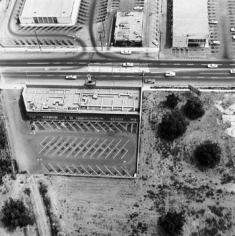 Parking Lots (Eileen Feather Salon, 14425 Sherman Way, Van Nuys) #6, 1967-99, 15 x 15 inch Gelatin Silver Print, Initialed and editioned on verso, Edition 23/3