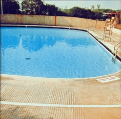 Nine Swimming Pools (pool five), 1967, 16 x 16 inch Color Coupler Print, Signed, dated and editioned on verso, Executed in 1968 and printed in 1997