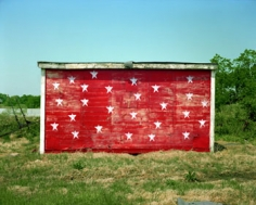 Stephen Shore, Red Shack with White Stars, Brownsville, Tennessee 5/3/74, 1974/ 2003, 20 x 24 inch Chromogenic print, Edition of 8