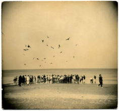 Untitled #891from the seriesA Box of Ku, 4 x 4inch gelatin silver printwith mixed media