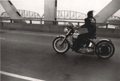 Danny Lyon, Crossing the Ohio, Louisville, 1966, 16 x 20 Gelatin silver enlargement print, Signed, titled, dated and stamped on verso, Signed on recto