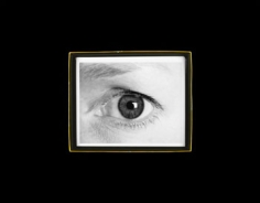 """Anne Collier, """"Eye (Black and White), 2009"""", 37 1/8 x 47 1/2 inch C-print, Edition of 5"""